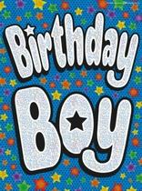 """Birthday Boy"" Flag Banner"
