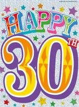 """Happy 30th"" Flag Banner"