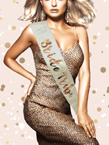 Rose Gold Bride Tribe Hen Party Sash