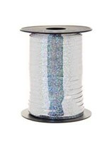 Silver Holographic Curling Ribbon 250m