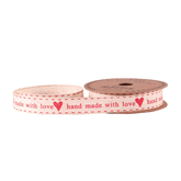 Handmade With Love Red Linen Ribbon 15mm x 5yds