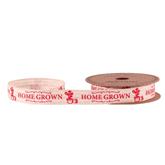 Homegrown Red Linen Ribbon 15mm x 5yds