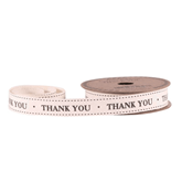 Thank You Linen Ribbon 15mm x 5yds