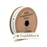 'Congratulations' Ribbon 5m
