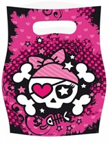 Pink Pirates Party Bags 6pk