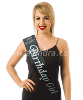 Birthday Girl With Diamante Black Sash