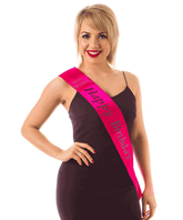 Happy Birthday With Diamante Hot Pink Sash