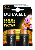 Duracell C Batteries 2pk