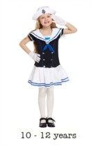 Child Sailor Girl Fancy Dress Costume 10 - 12 yrs