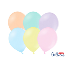 """PartyDeco Strong 9"""" Pastel Mix Latex Balloons 100pk"""