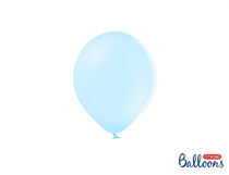 Party Deco 5 Inch Pastel Light Blue Latex Balloons 100 Pack