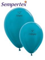 Sempertex Metallic Caribbean Blue Latex Balloons
