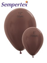 Sempertex Metallic Chocolate Latex Balloons
