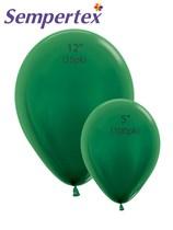 Sempertex Metallic Forest Green Latex Balloons