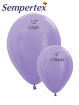 Sempertex Satin Lilac Latex Balloons