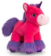 Glitter Gems Dark Pink Unicorn Soft Toy