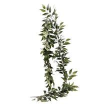 Green Ruscus Leaf Garland 190cm