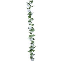 Cream Hydrangea Flower Leaf Garland 180cm