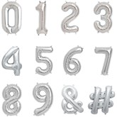 """North Star Silver 16"""" Foil Numbers and Symbols"""