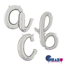 "Silver Script 26"" Foil Letter Balloons"