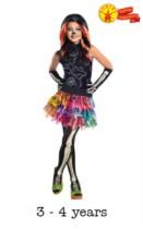 Child Monster High Skelita Calaveras Fancy Dress Costume 3 - 4yrs