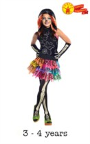 Child Monster High Skelita Calaveras Fancy Dress Costume 3 - 4yrs