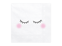Sleepy Unicorn Face Napkins 20pk