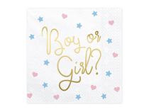 Gender Reveal Boy Or Girl Napkins 20pk