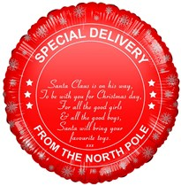 "Christmas Special Delivery 18"" Foil Balloon"