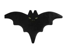 Halloween Black Bat Shaped Paper Napkins 20pk