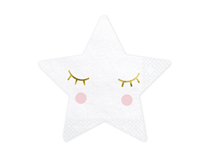 Little Star Smiling Eyelashes 16cm Napkins 20pk