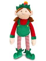 Dangly Christmas Female Shelf Elf Toy 12cm