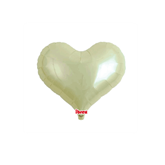 "Metallic Ivory 14"" Heart Jelly Foil Balloon"