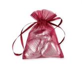 Burgundy Organza Favour Bags 10pk