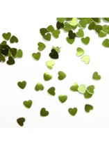 Apple Green Tiny Hearts Wedding Table Scatter 14g