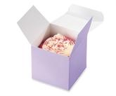 Lilac Embossed Cupcake Boxes 8pk