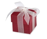 Burgundy Favour Boxes 10pk