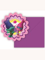 Trolls Invitations & Envelopes 6pk
