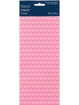 Light Pink Polka Dot Tissue Paper 3 sheets