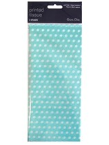 Light Blue Polka Dot Tissue Paper 3 sheets