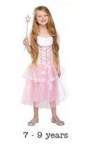 Children's Pink Princess Fancy Dress Costume 7 - 9 yrs (with wand)