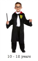 Children's Wizard Costume 10 - 12 yrs With Glasses & Wand