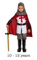 Child Crusades Knight Fancy Dress Costume 10 - 12 yrs