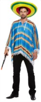 Adult Mexican Poncho Fancy Dress Costume