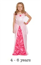Children's Sleeping Beauty Princess Fancy Dress Costume 4 - 6 yrs