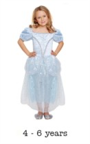 Children's Like Cinderella Princess Fancy Dress Costume 4 - 6 yrs