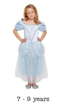 Children's Like Cinderella Fancy Dress Costume 7 - 9 yrs