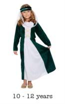 Children's Medieval Maiden Book Day Fancy Dress Costume 10 - 12 yrs