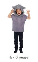 Children's Big Bad Wolf Book Day Fancy Dress Costume 4 - 6 yrs