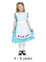 Child Alice Book Day Fancy Dress Costume 4 - 6 yrs
